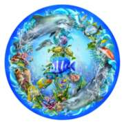 Peace-ful Tides - 1000pc Round Jigsaw Puzzle By Sunsout