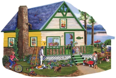 Lakeside Lane - 1000pc Shaped Jigsaw Puzzle By Sunsout