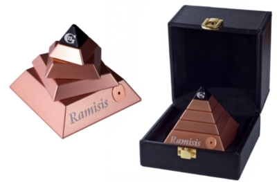 Ramisis Metal Brain Teaser, Copper, w\ Leather Box - UPDATED!