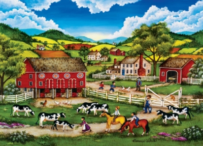 Meeting the New Calf - 500pc Jigsaw Puzzle by Masterpieces