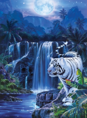 Jigsaw Puzzles - Moonlit Tiger