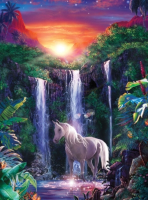 Crystal Falls - 500pc Jigsaw Puzzle by Masterpieces