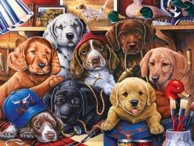 Jigsaw Puzzles - Grandpa's Pups