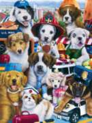 Working Pups - 750pc Jigsaw Puzzle by Masterpieces