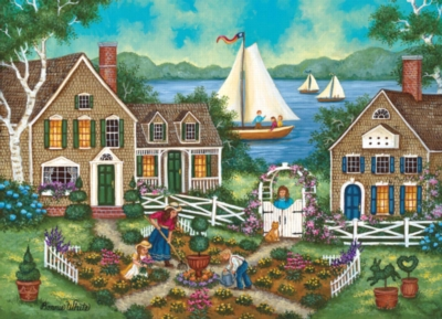 Lakeside Garden - 1000pc Jigsaw Puzzle by Masterpieces