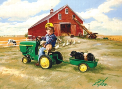 Tractor Ride - 1000pc Jigsaw Puzzle by Masterpieces