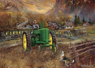 Autumn in Deere Country - 1000pc Jigsaw Puzzle by Masterpieces