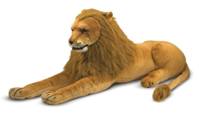 "Lion - 60"" Head to Tail, Laying Plush Lion by Melissa & Doug"