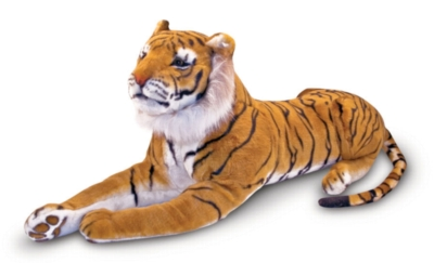 "Tiger - 70"" Head to Tail, Laying Plush Tiger by Melissa & Doug"