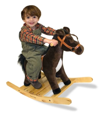 Rocking Horse - 20&quot; Tall, 33&quot; Long, Plush Ride-On Rocking Horse by Melissa & Doug