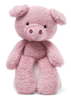 """Fuzzy Pig - 13.5"""" Pig By Gund"""