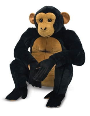 Chimpanzee - 22&quot; High, Sitting Plush Ape by Melissa & Doug