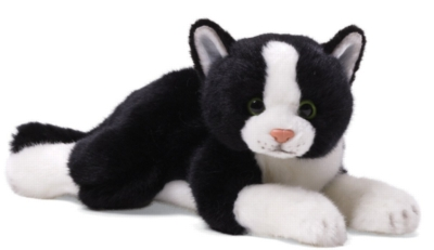 "Black & White - 11"" Cat By Gund"