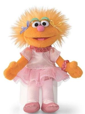 "Zoe Beanbag - 6.5"" Sesame Street By Gund"