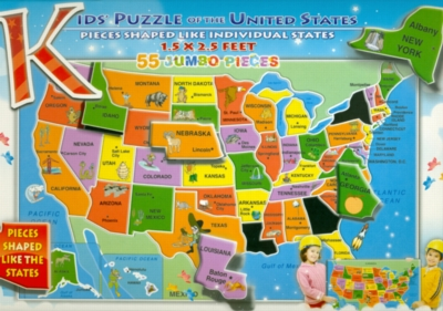 Jigsaw Puzzles - Kids' Puzzle of the USA