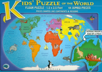 Kids Puzzle of the World - 44pc Floor Puzzle