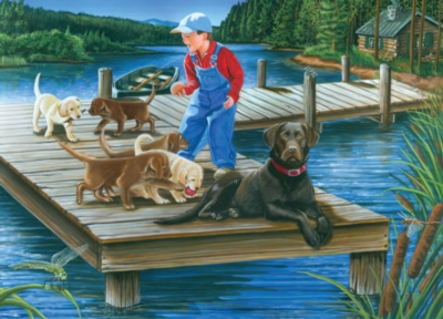 Go Fetch! - 1000pc Jigsaw Puzzle By Jack Pine