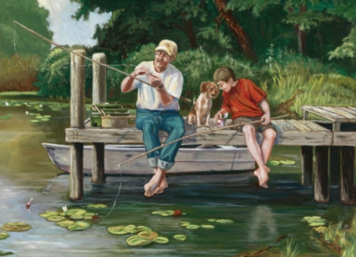 On the Dock - 1000pc Jigsaw Puzzle By Jack Pine