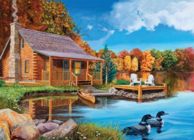Autumn Cabin - 1000pc Jigsaw Puzzle By Jack Pine