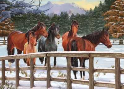 Jigsaw Puzzles - Winter Horses