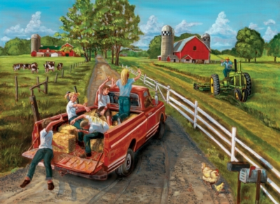 Hayride - 1000pc Jigsaw Puzzle By Jack Pine