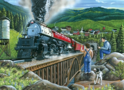 Steaming Out of Town - 1000pc Jigsaw Puzzle By Jack Pine