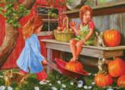 Pumpkin Girls - 1000pc Jigsaw Puzzle By Jack Pine