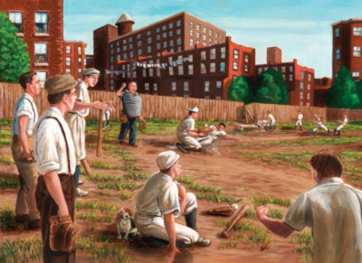 Old Time Baseball - 1000pc Jigsaw Puzzle By Jack Pine