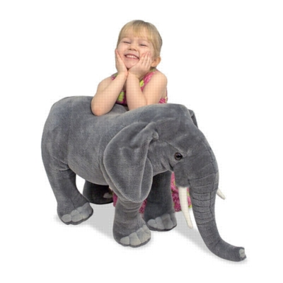 "Elephant - 33"" Head to Tail, Plush Elephant by Melissa & Doug"