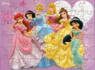 Disney Princesses: Cinderella, Belle, Aurora, Ariel, Snow White, & Jasmine - 48pc Jigsaw Puzzle