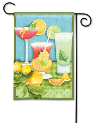 Summer Cocktails - Garden Flag by Magnet Works