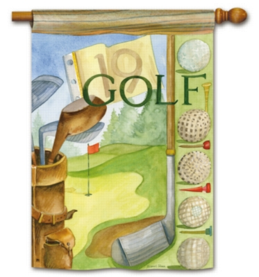 Vintage Golf - Standard Flag by Magnet Works
