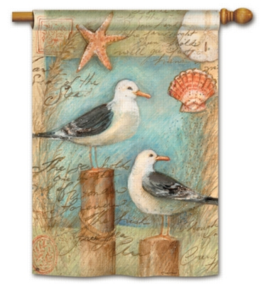 Seagulls & Shells - Standard Flag by Magnet Works