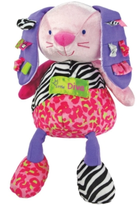 "Little Diva Bunny - 12"" Rabbit By Kids Preferred"