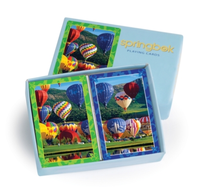 Balloon Bonanza - Double Deck Standard Index Playing Cards by Springbok