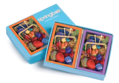 Knitter's Delight - Double Deck Jumbo Index Playing Cards by Springbok