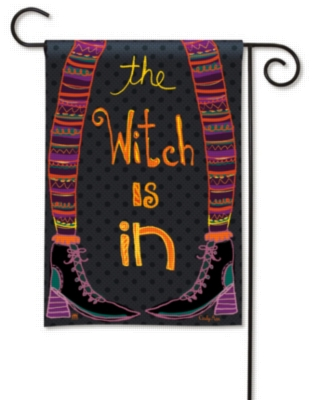 Witch is In - Garden Flag by Magnet Works