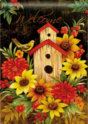 Autumn Birdhouse - Garden Flag by Magnet Works