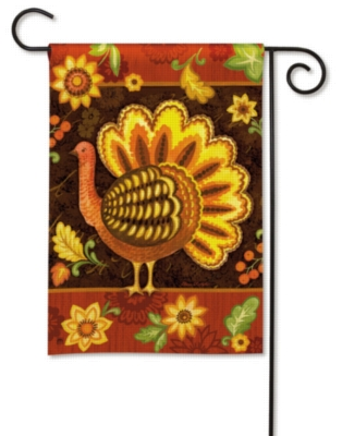 Folk Turkey - Garden Flag by Magnet Works