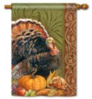 Thanksgiving Greeting - Standard Flag by Magnet Works