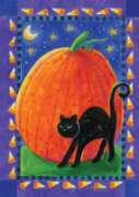 Pumpkin & Cat - Standard Flag by Toland