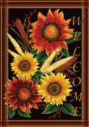 Sunflower Welcome - Standard Flag by Toland