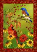Birds 'n Berries - Standard Flag by Toland