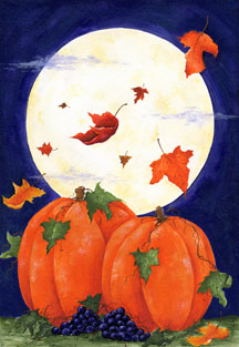 Pumpkin Moon - Standard Flag by Toland