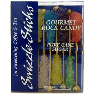 Dryden & Palmer - Rock Candy Swizzle Sticks, Assorted Flavors, Gift/Display Box of 10qty