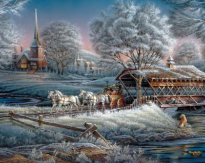 Morning Frost - 1000pc Horse Jigsaw Puzzle By White Mountain