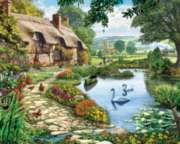 Lakeside Cottage - 1000pc Jigsaw Puzzle By White Mountain
