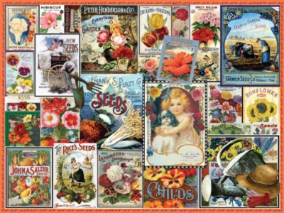 Vintage Flower Seeds - 550pc Jigsaw Puzzle By White Mountain