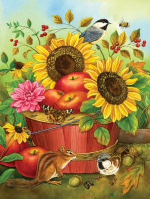 Fall Basket - 300pc Large Format Jigsaw Puzzle By Sunsout