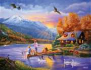 Large Format Jigsaw Puzzles - Grandpa's Cabin